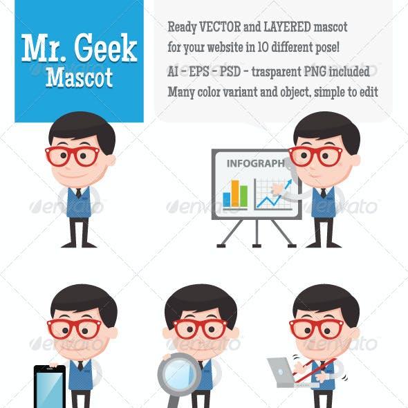 Mr. Geek Mascot