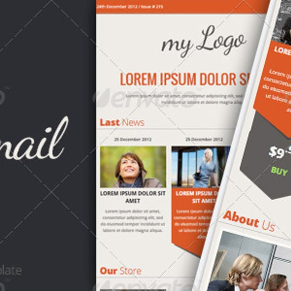E Mail Template Graphics Designs Templates From Graphicriver