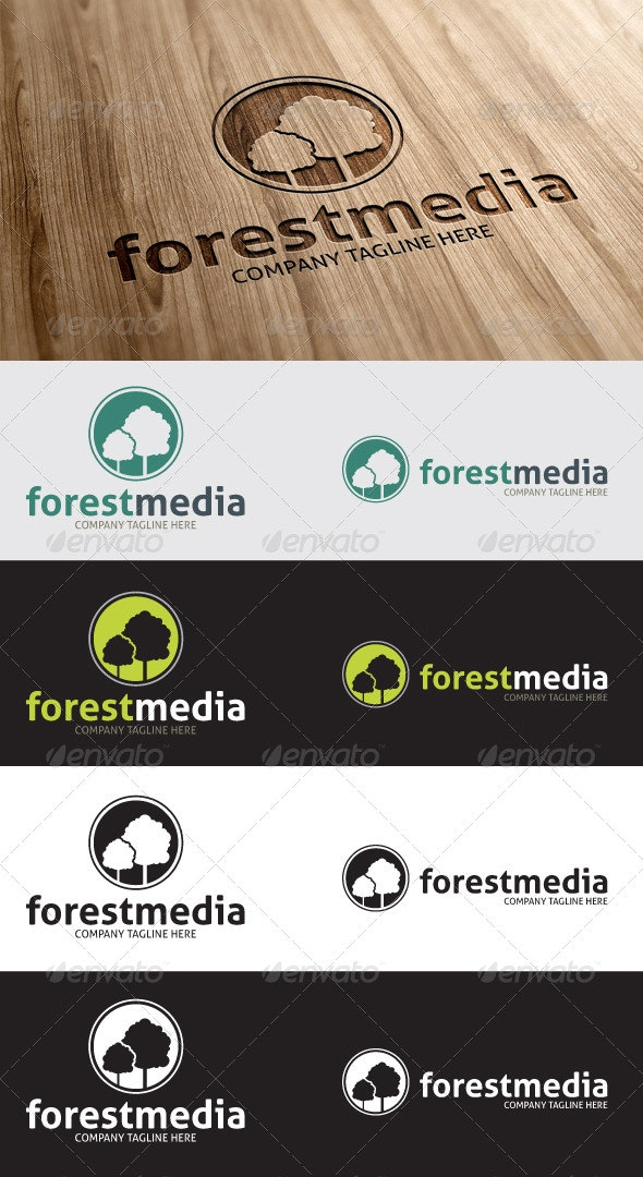 Forest Media Logo - Nature Logo Templates
