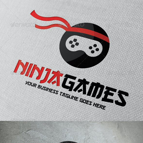 Ninja Game Logo Template