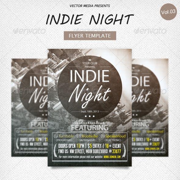 Indie Night - Flyer [Vol.3]