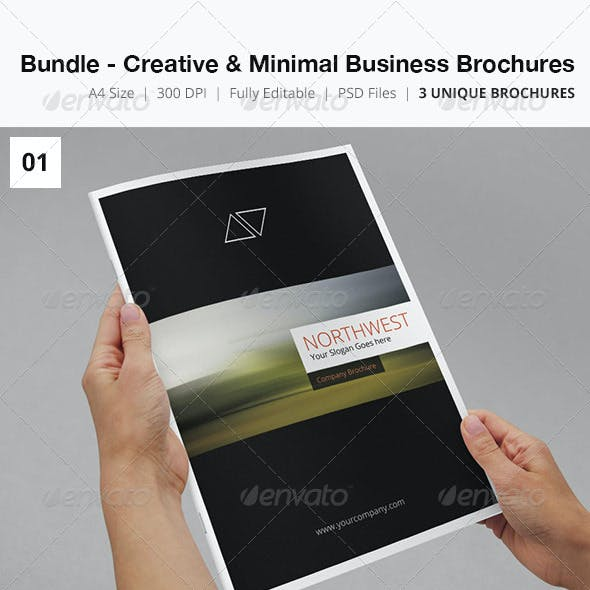Bundle - Creative & Minimal Business Brochures
