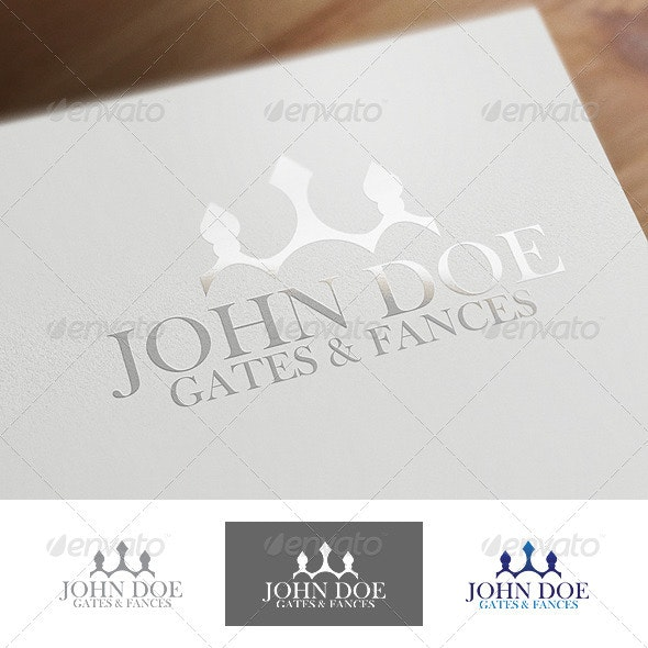Fences and Gates - Buildings Logo Templates