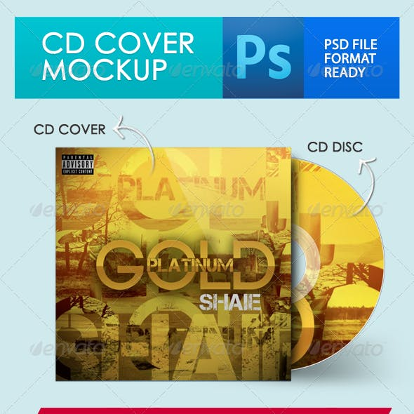 CD Cover + Disc Mockup