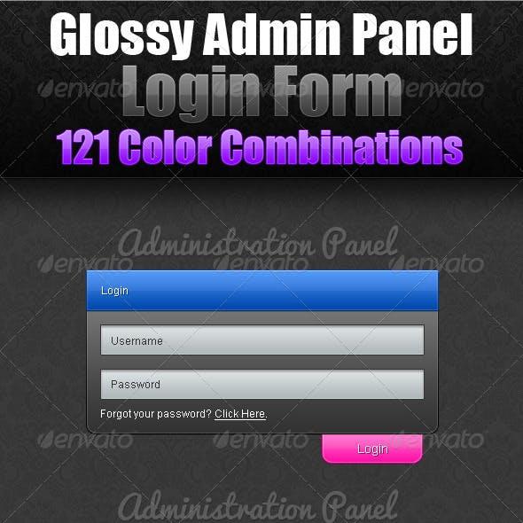 Glossy Admin Panel Login Form