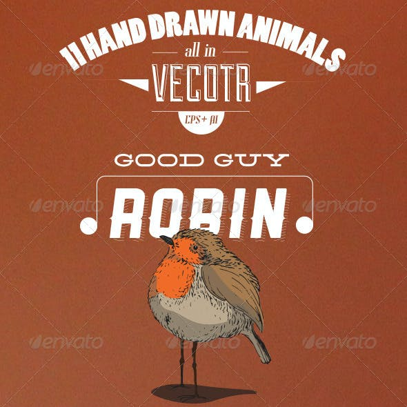 11 Handcrafted Vector Animals
