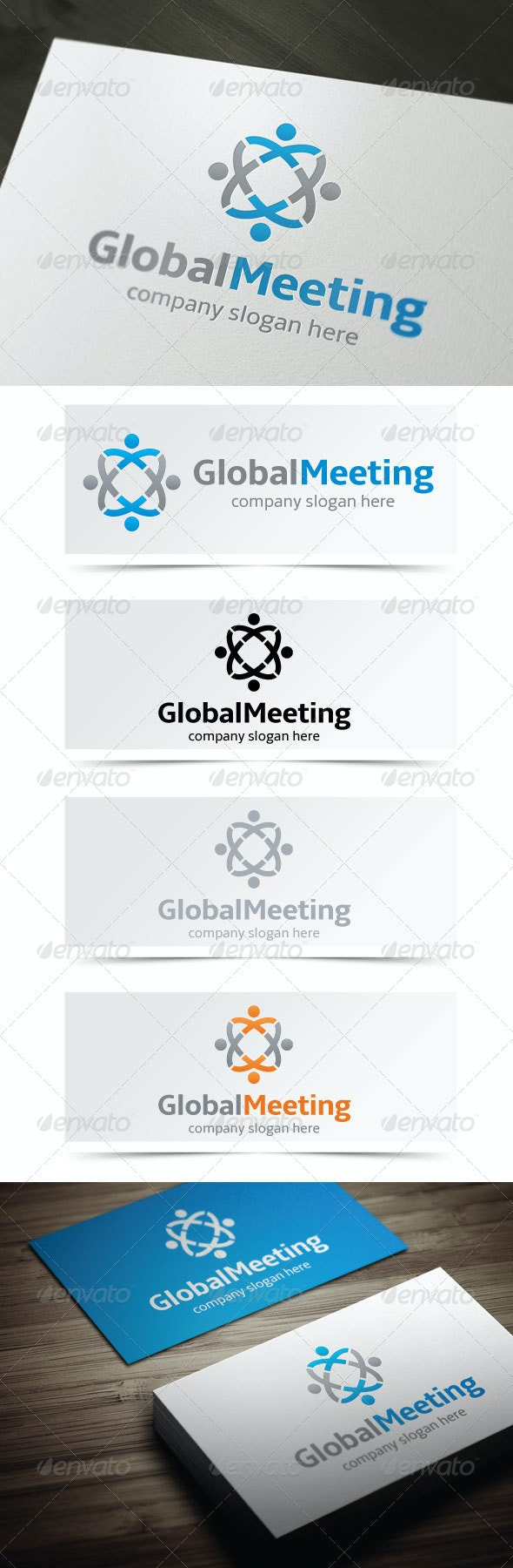 Global Meeting - Humans Logo Templates