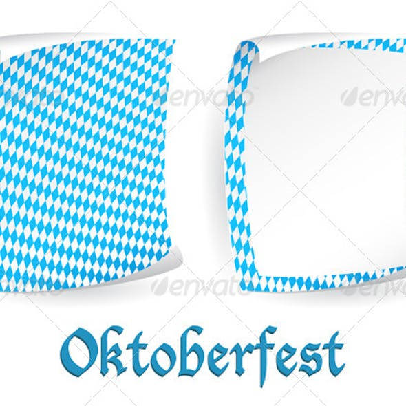 Two Paper Boards in Bavarian Colors