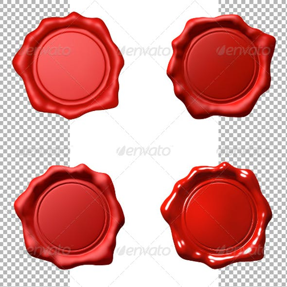 Red Wax Seal - Set