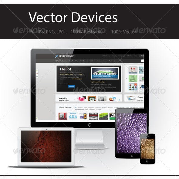 Vector Device Mockups
