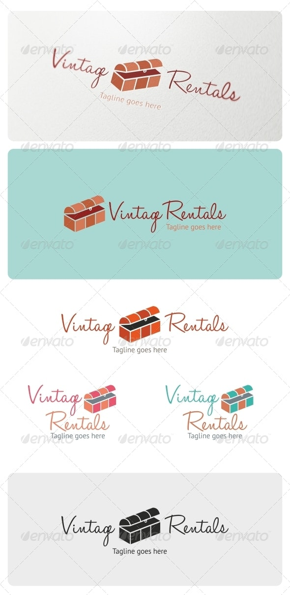 Vintage Rentals Logo Template - Objects Logo Templates