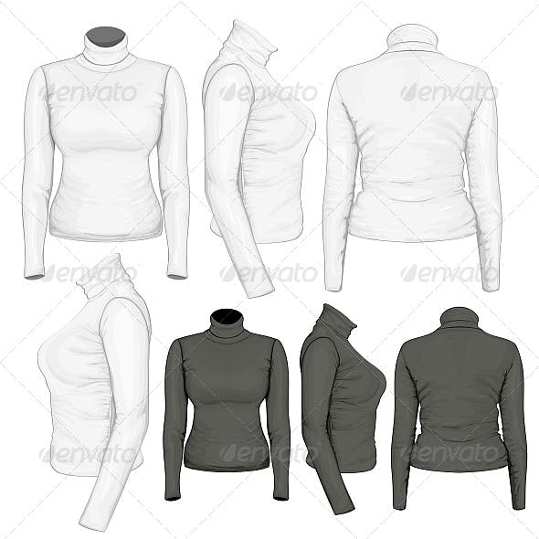 Women's Turtleneck Design Templates