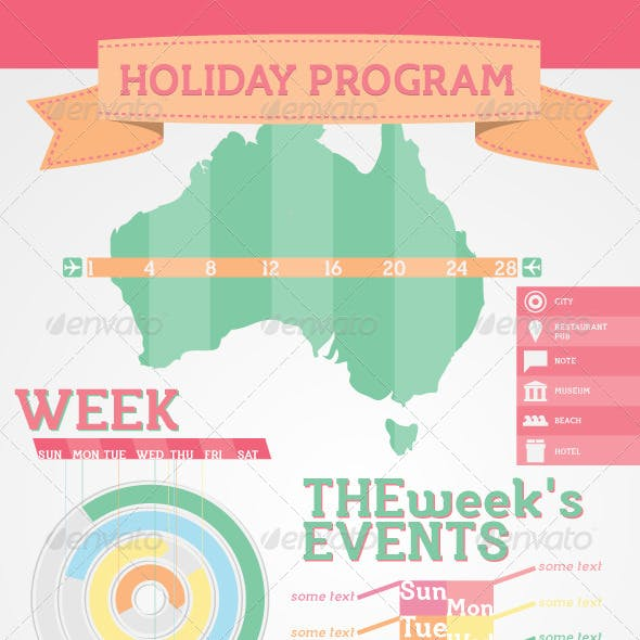 Infographic elements - Sample Holiday Program