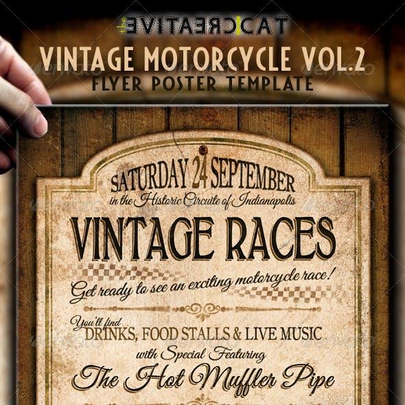 Vintage Motorcycle Flyer/Poster Vol.2