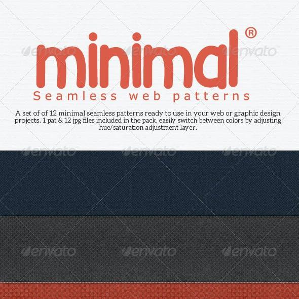 Minimal Seamless Web Patterns Pack 1