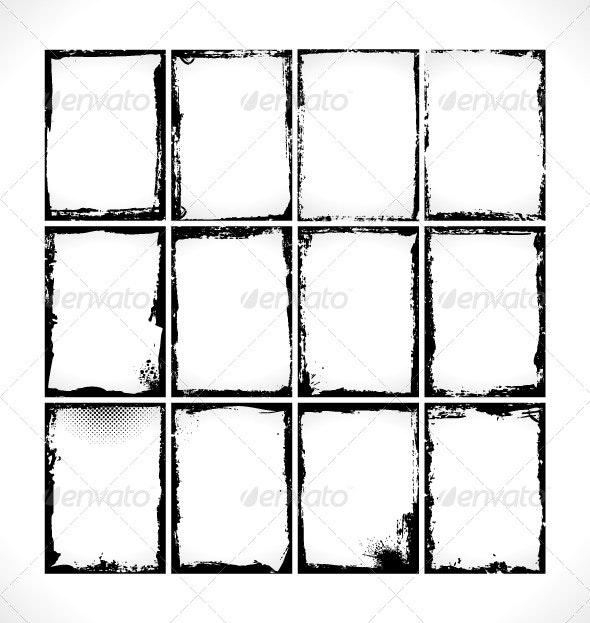 Grunge Frames Collection - Backgrounds Decorative