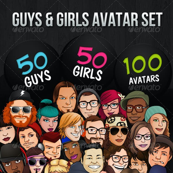 100 Guys & Girls Avatars