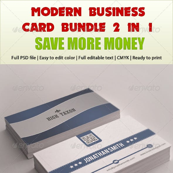 Modern Business Card Bundle 2 in 1