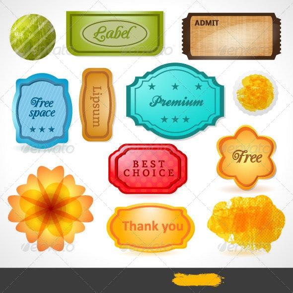 Vector Labels - Web Elements Vectors