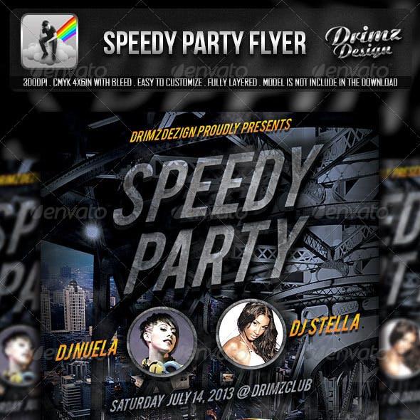 Speedy Party Flyer
