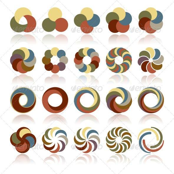 Abstract Circular Design Elements