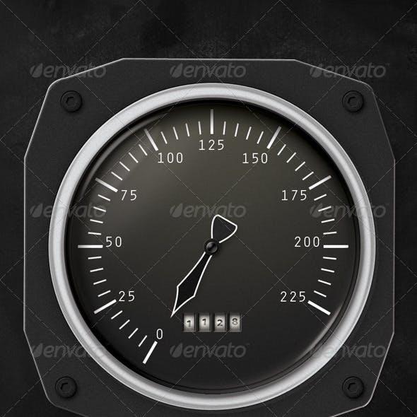 Solid Metal Speedometer