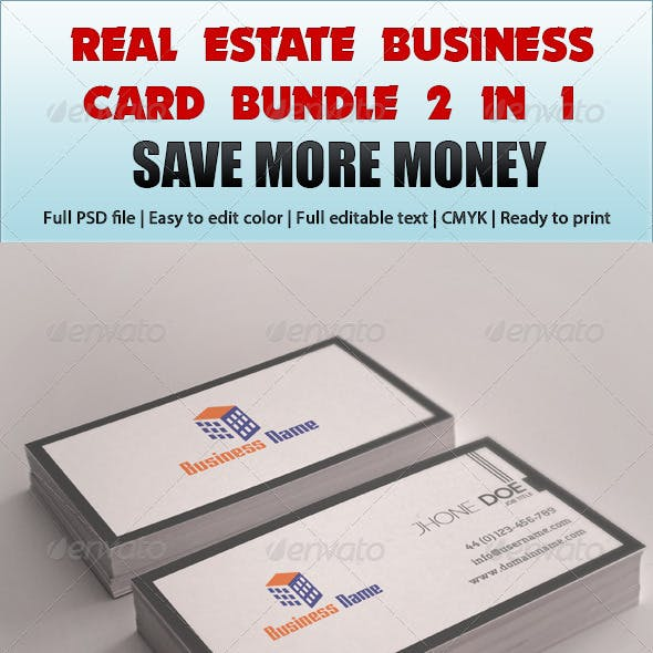 Real Estate Business Card Bundle 2 in 1