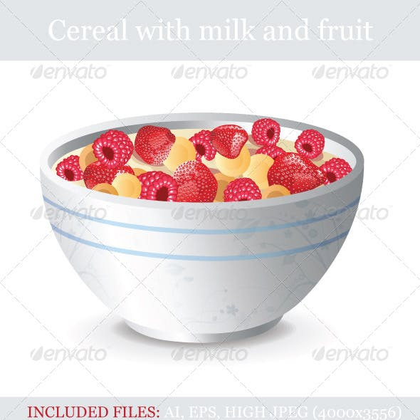 Cereal with Milk and Fruit