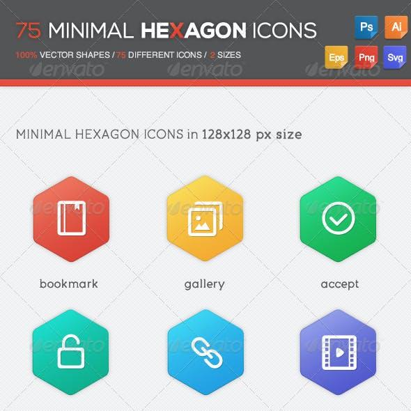 75 Minimal Hexagon Icons