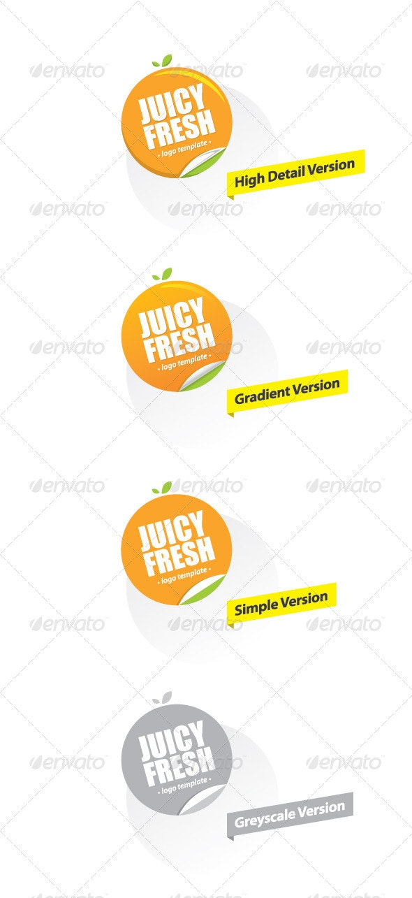 Juicy Fresh - Logo for healthy products - Nature Logo Templates