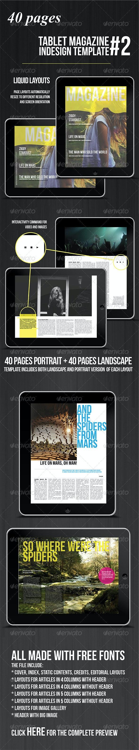 Tablet 40 Pages Multipurpose Magazine - Digital Magazines ePublishing