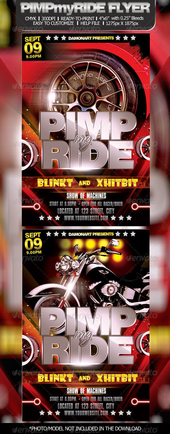 Pimp My Ride Flyer Template - Clubs & Parties Events