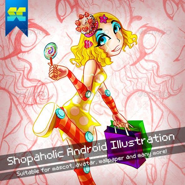Shopaholic Android Illustration Character