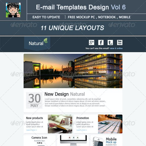 Natural : E-mail Template Design Vol 5