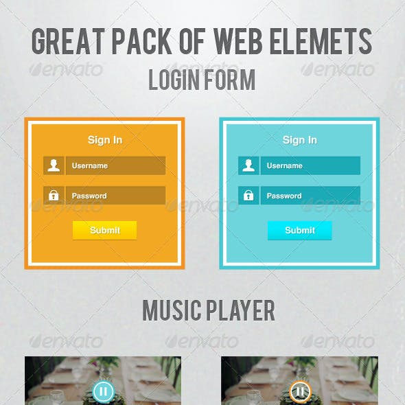 Great Pack Of Web Elements