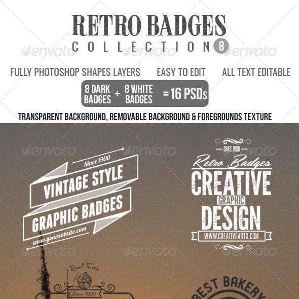Retro Badges Col.8