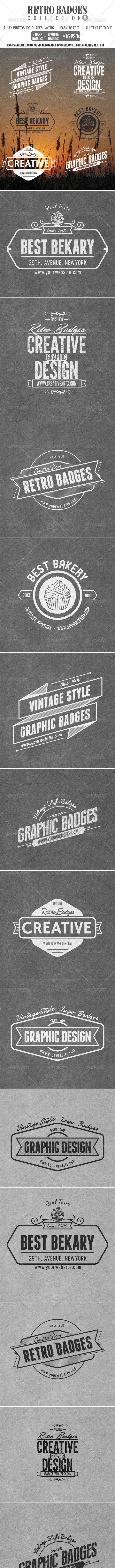 Retro Badges Col.8 - Badges & Stickers Web Elements