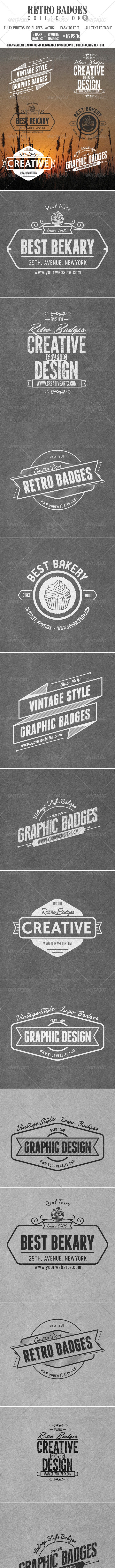 Retro Badges Col.8 - Badges & Stickers Web Elements