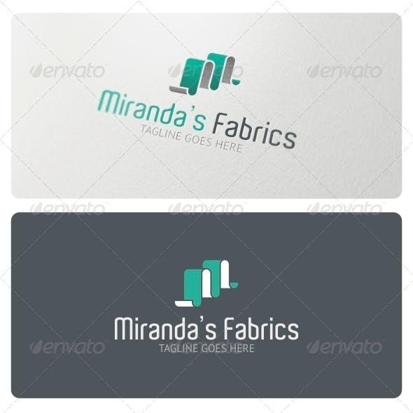 Miranda's Fabrics Logo Template