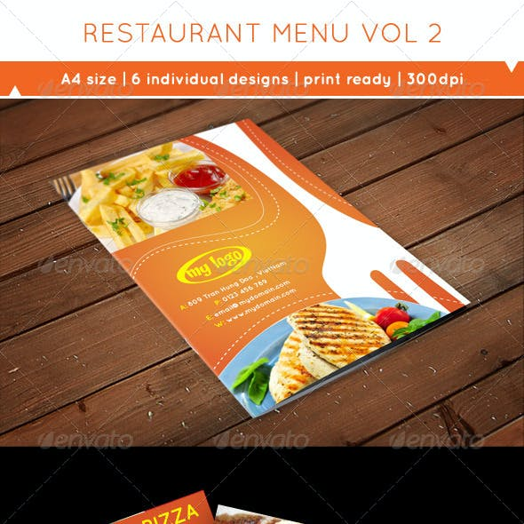 A4 Flyer Food Menu Vol 2