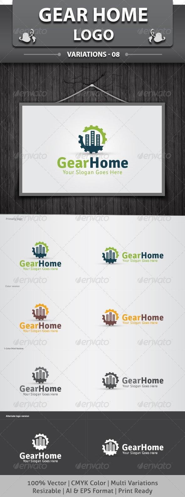 Gear Home Logo - Objects Logo Templates