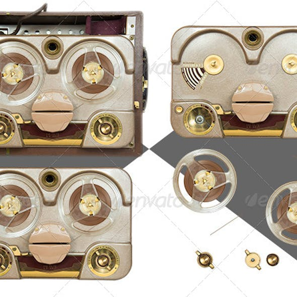 Old Tube Tape Recorder Parts