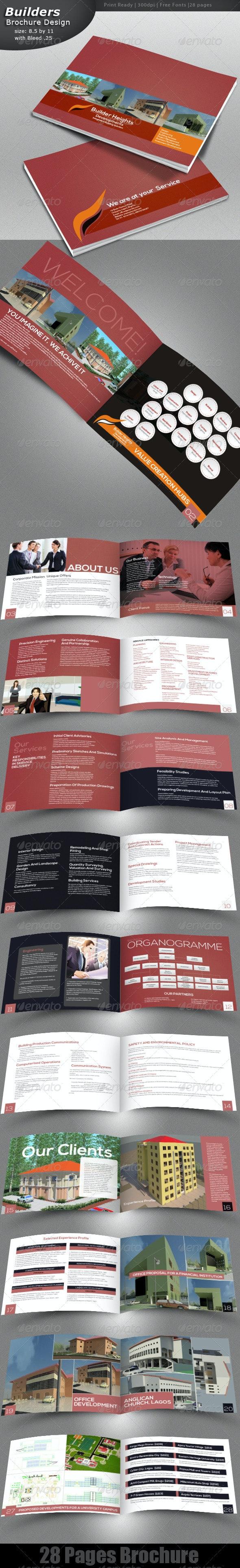 Construction Brochure - Brochures Print Templates