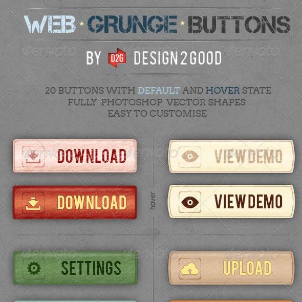 Web Grunge Buttons