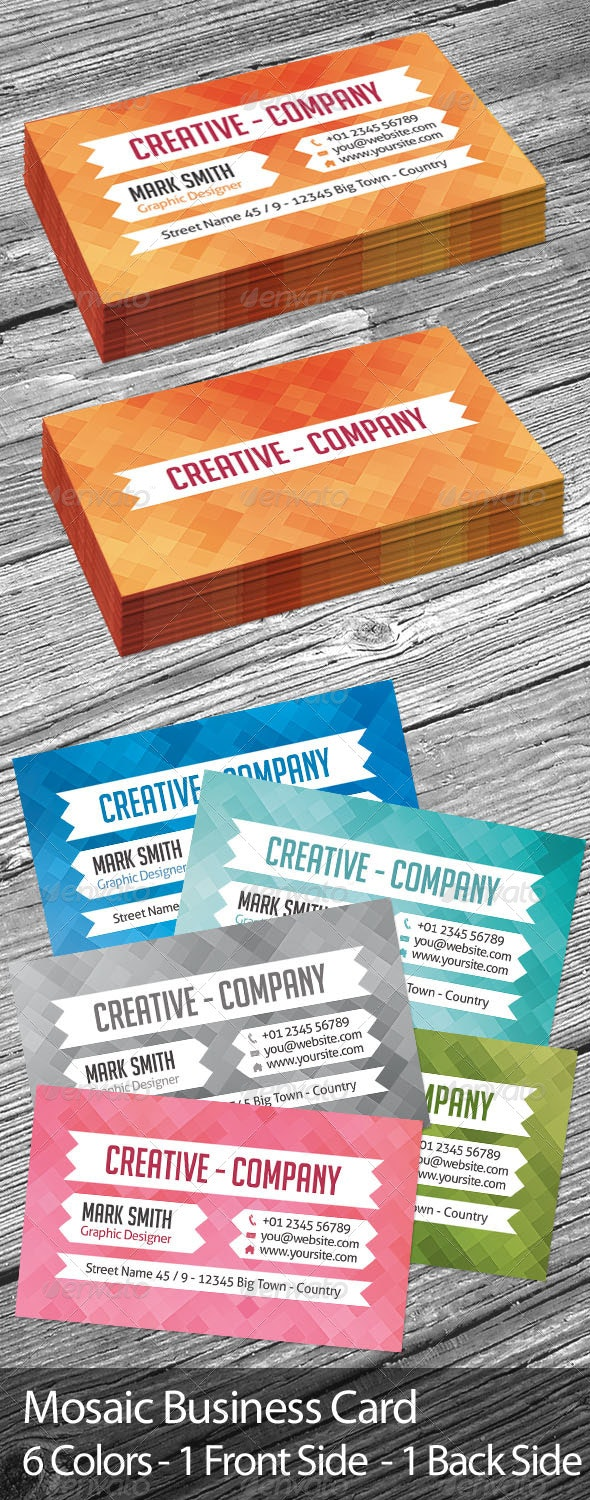 Mosaic Business Card - Creative Business Cards