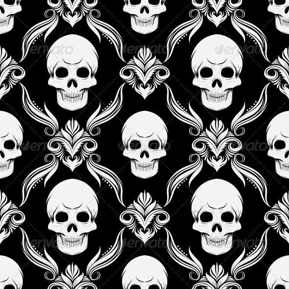 Skull Pattern - Patterns Decorative