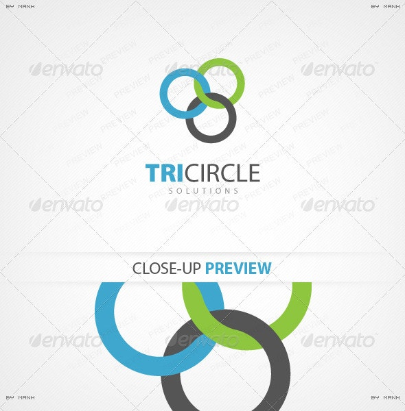 TriCircle Solutions Logo Template - Symbols Logo Templates