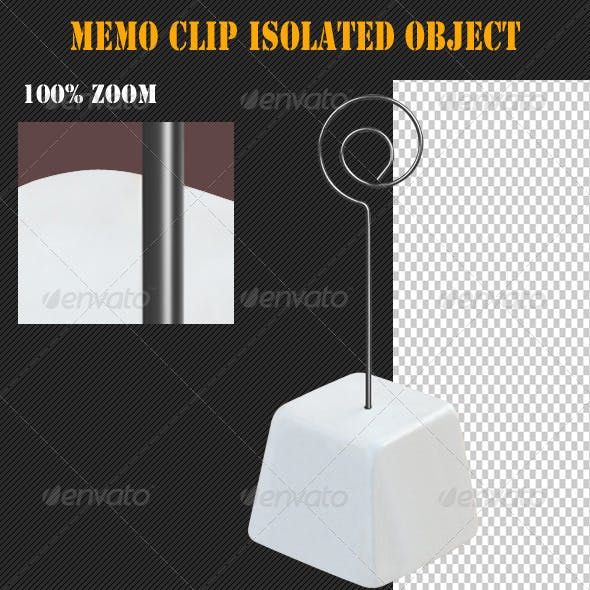 Memo Clip Isolated Object