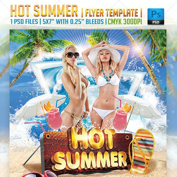 Hot Summer Flyer Template