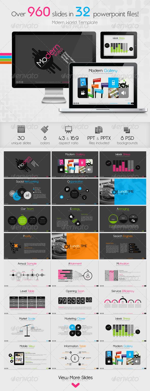Modern World Powerpoint Presentation Template - Business PowerPoint Templates
